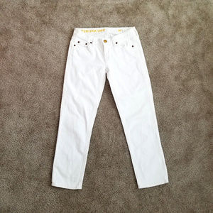 J. Crew Matchstick Crop ankle white skinny jeans